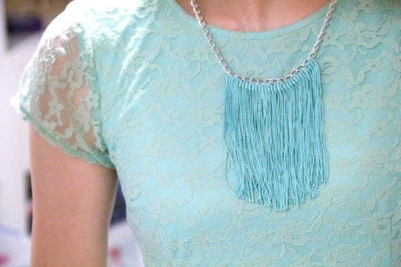 DIY Fringe & Chain Necklace